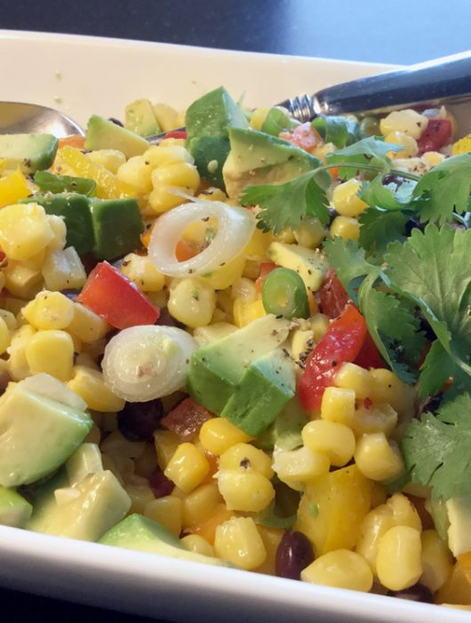 corn+black bean salsa