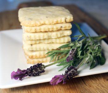 lorelle's lemon lavender shortbread