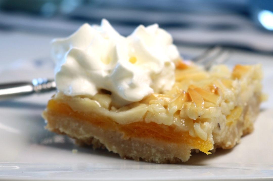 apricot + almond tart