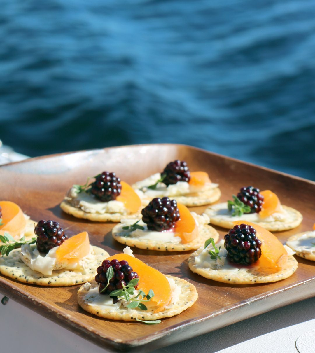 blackberry + brie appetizer