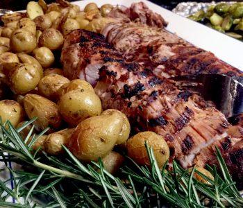 grilled rosemary pork loin