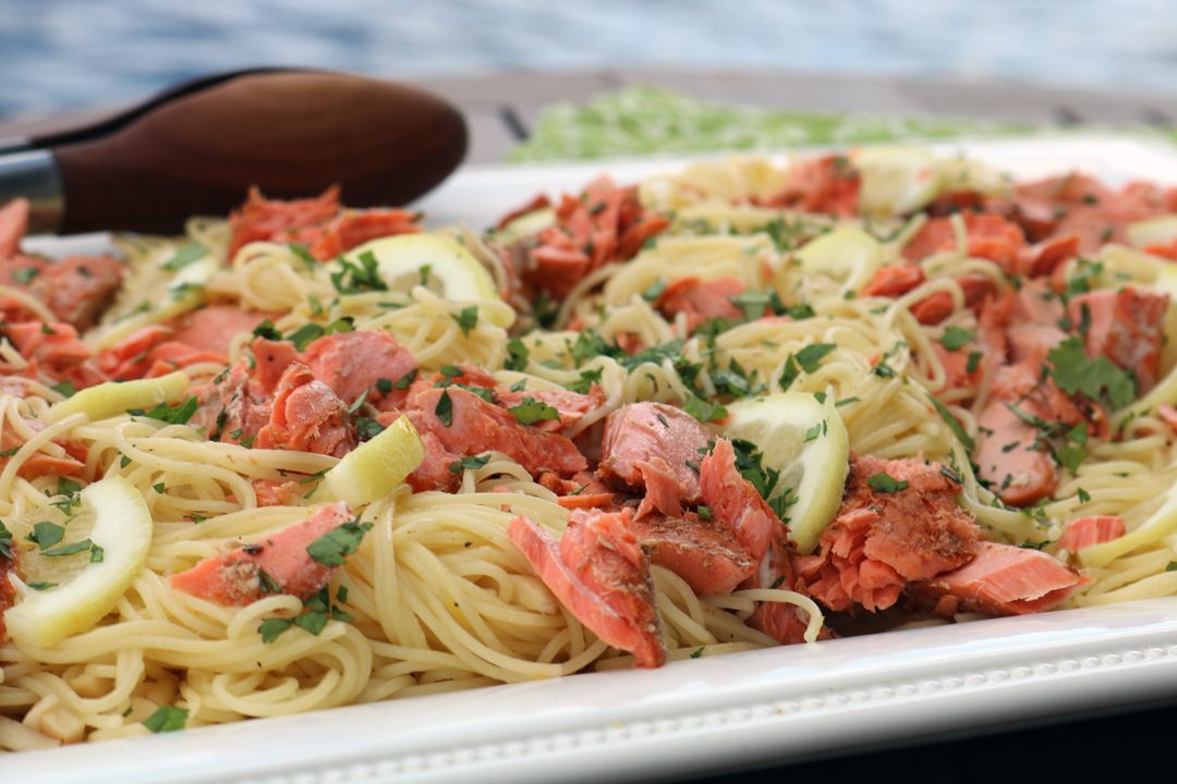 salmon with lemon pasta