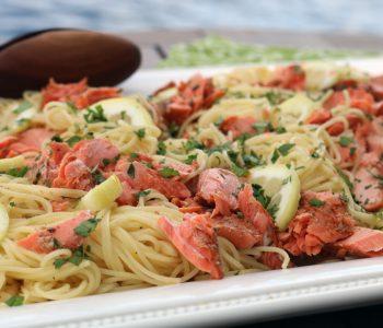 salmon with lemon pasta
