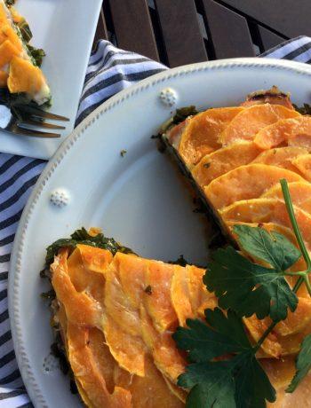 butternut squash + kale torte