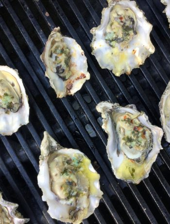 oysters on the grill