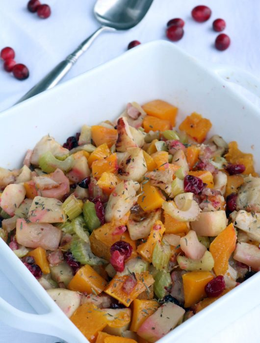 butternut squash and roasted apples