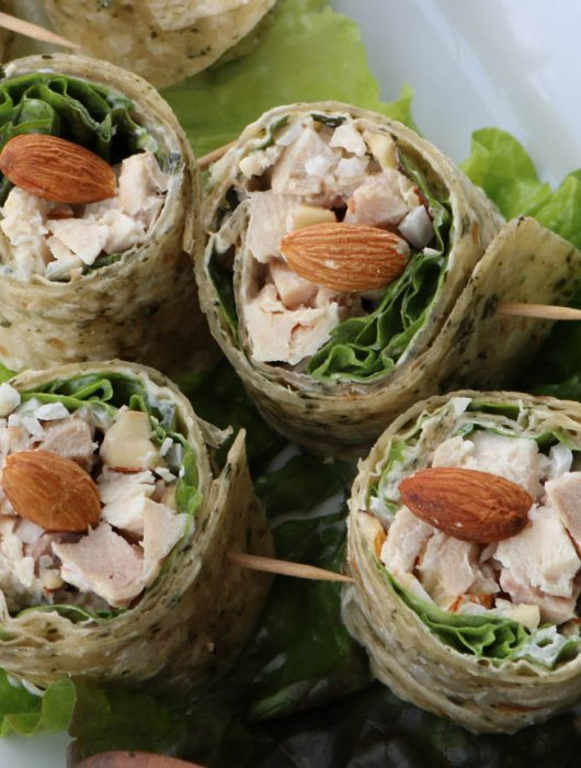 almond chicken roll up