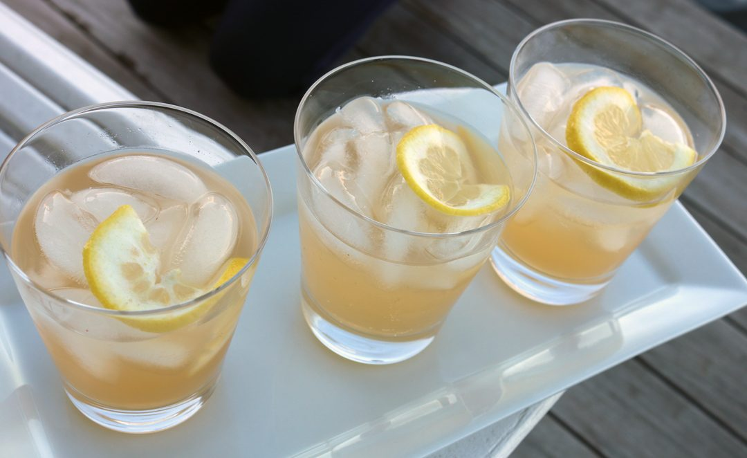 lemon ginger shrub
