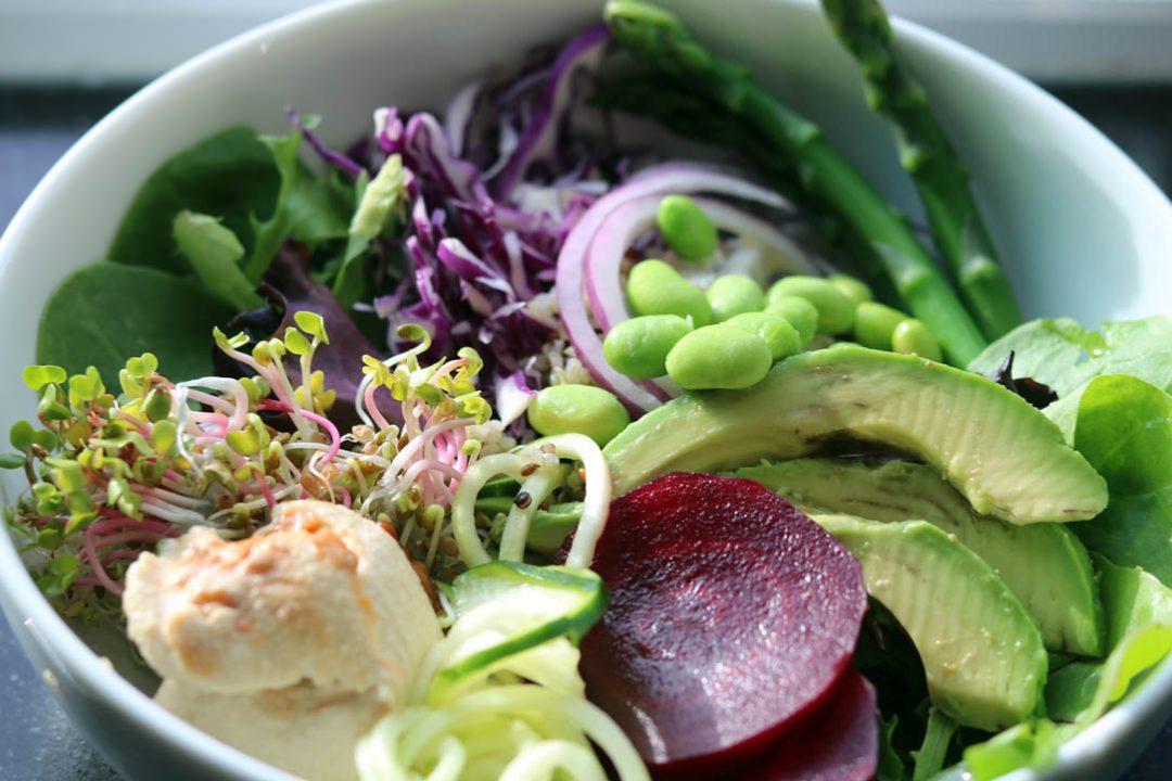 salad arranged in bowl